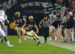 Michael Shanahan #87 of the Pitt Panthers