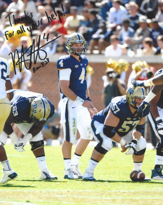 Nate Peterman, #4 of the Pitt Panthers