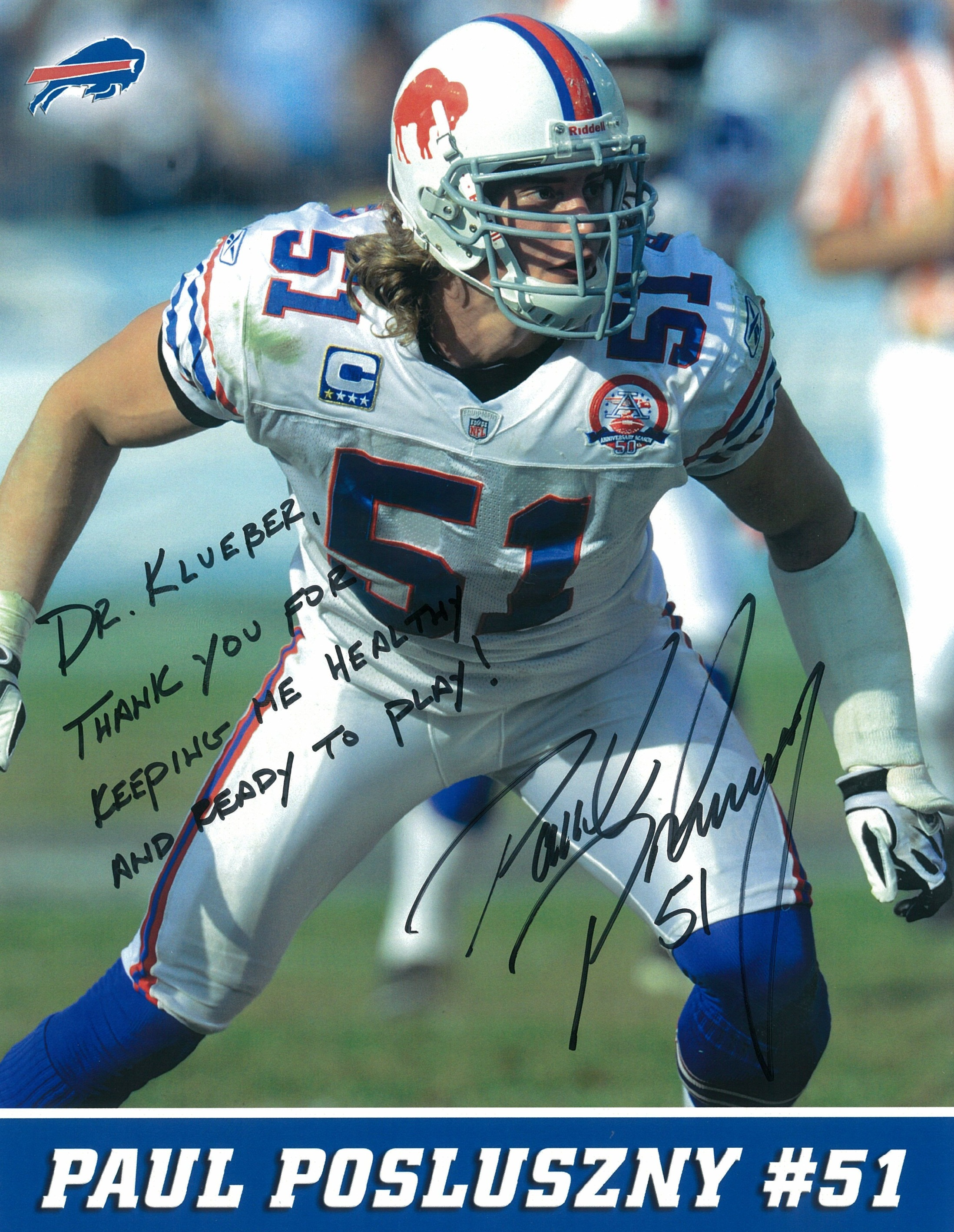 Paul Posluszny, #51 of the Buffalo Bills