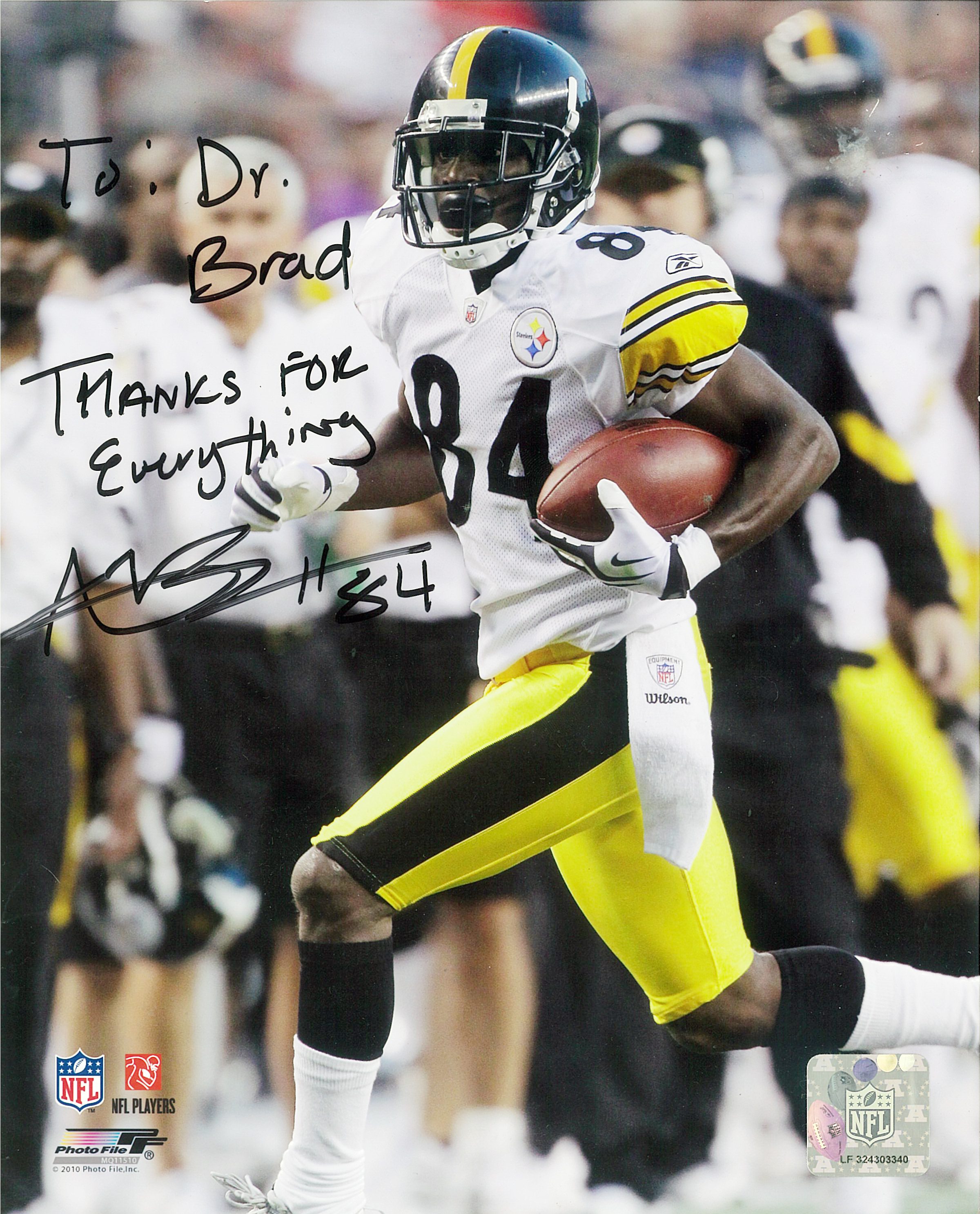 Antonio Brown #84 of the Pittsburgh Steelers