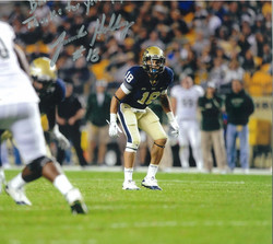Jarred Holley #18 of the Pitt Panthers