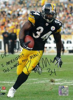 Rashard Mendenhall, #34 of the Pittsburgh Steelers