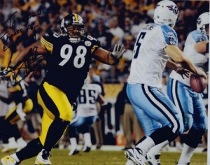 Casey Hampton #98 of the Pittsburgh Steelers