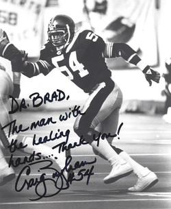 Craig Bingham, #54 Pittsburgh Steelers