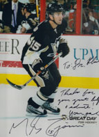 Michael Zigomanis, #15 of the Pittsburgh Penguins