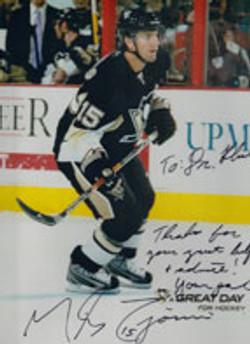 Michael Zigomanis, #15 of the Pittsburgh Penguins