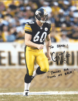 Greg Warren, #60 of the Pittsburgh Steelers