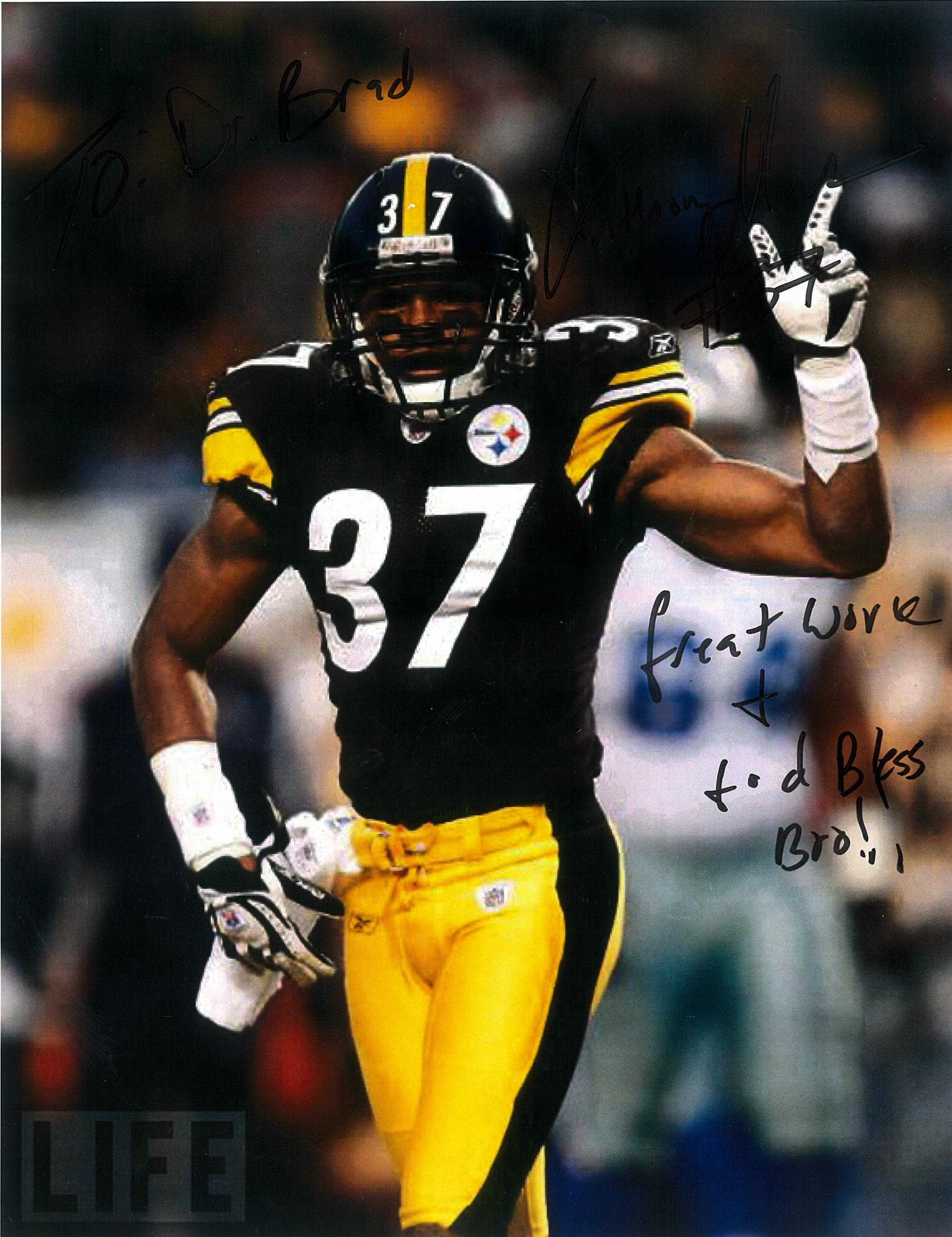 Anthony Madison, #37 Pittsburgh Steelers