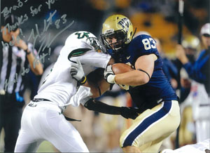 Hubie Graham #83 of the Pitt Panthers