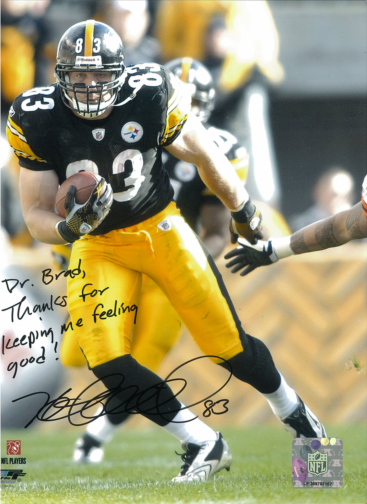 Heath Miller #83 of the Pittsburgh Steelers