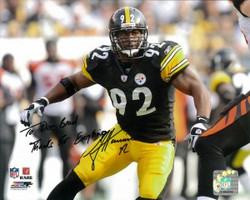 James Harrison #92 of the Pittsburgh Steelers