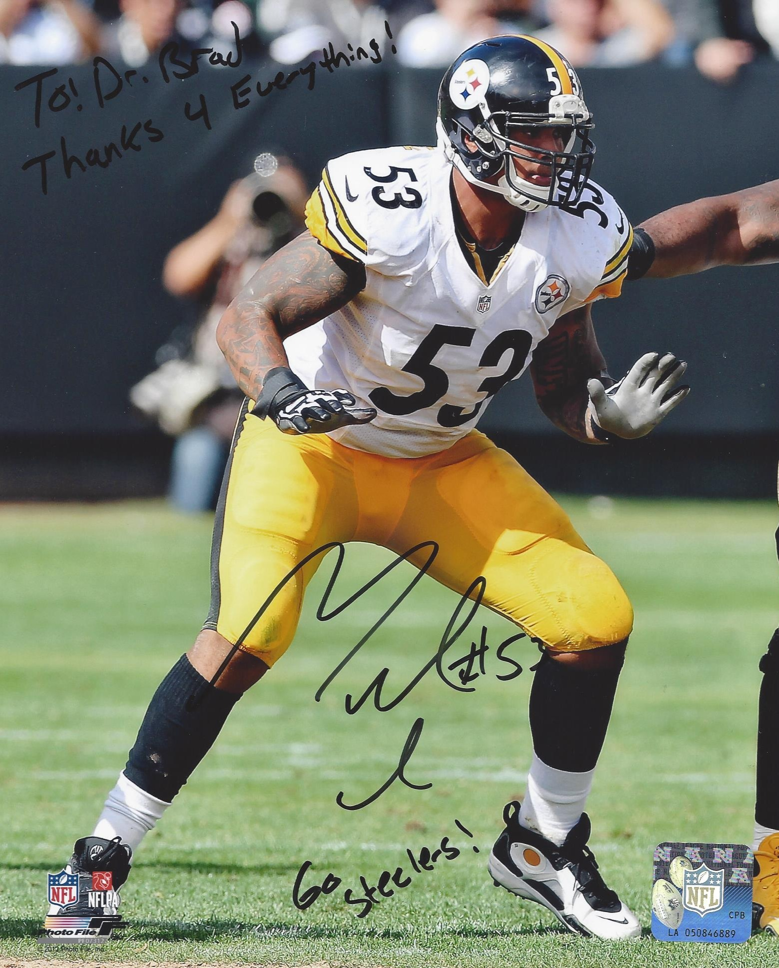 #53 Maurkice Pouncey Pittsburgh Steelers