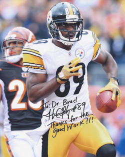 Jerricho Cotchery #89 of the Pittsburgh Steelers
