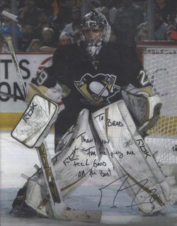 Marc-Andre Fleury, #29 of the Pittsburgh Penguins