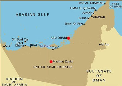 Abu Dhabi to Madinat Zayed