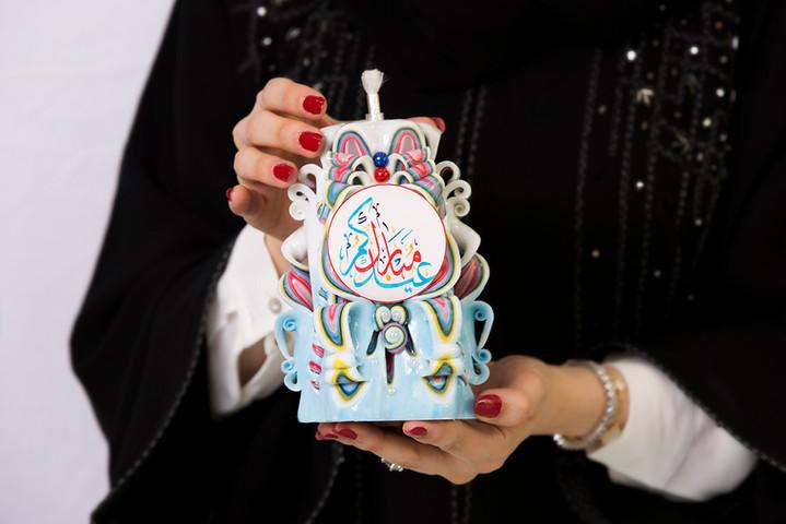 Eid Mubarak candle gift