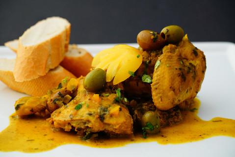 Chicken___lemon_tajine_and_plain_basmati
