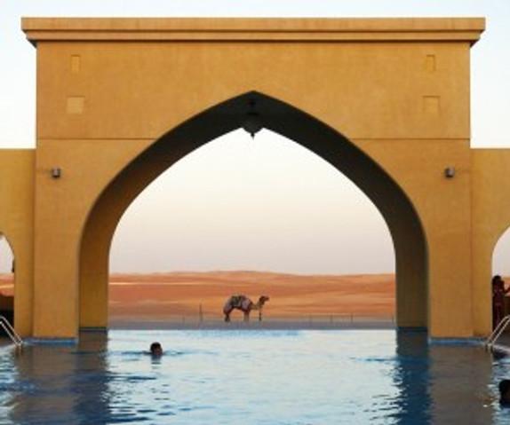 Tilal Liwa's Infinity Pool One Arabian Night