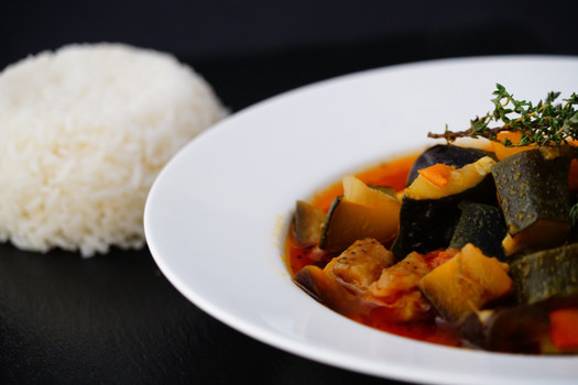 Ratatouille and plain basmati rice .jpg