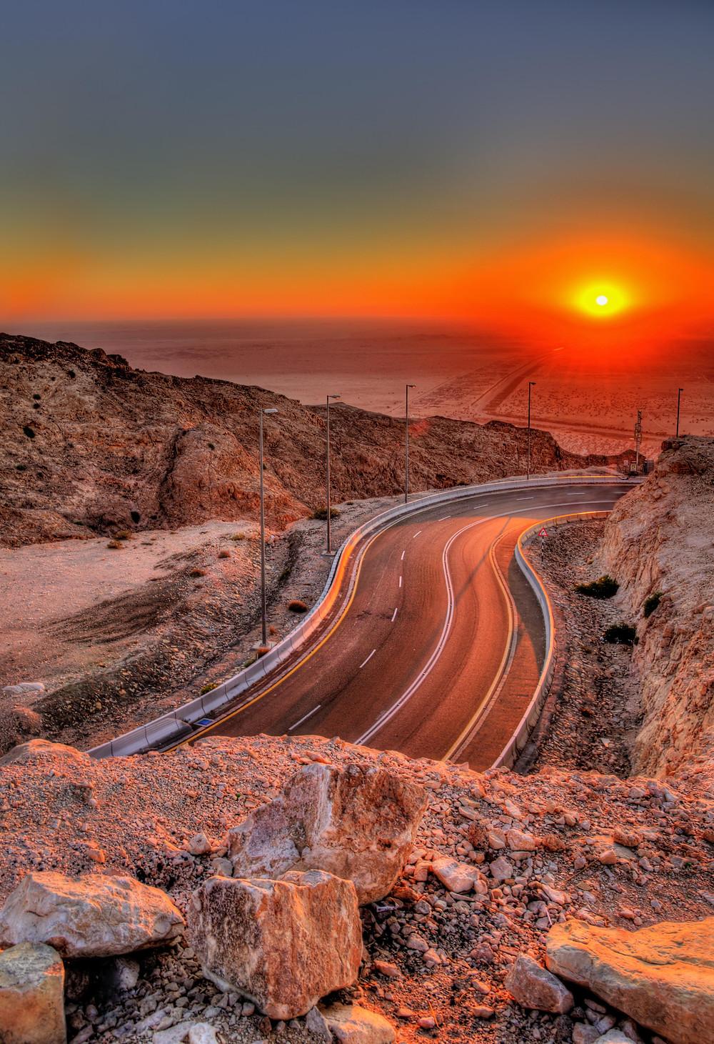 Jebel Hafeet Sunset