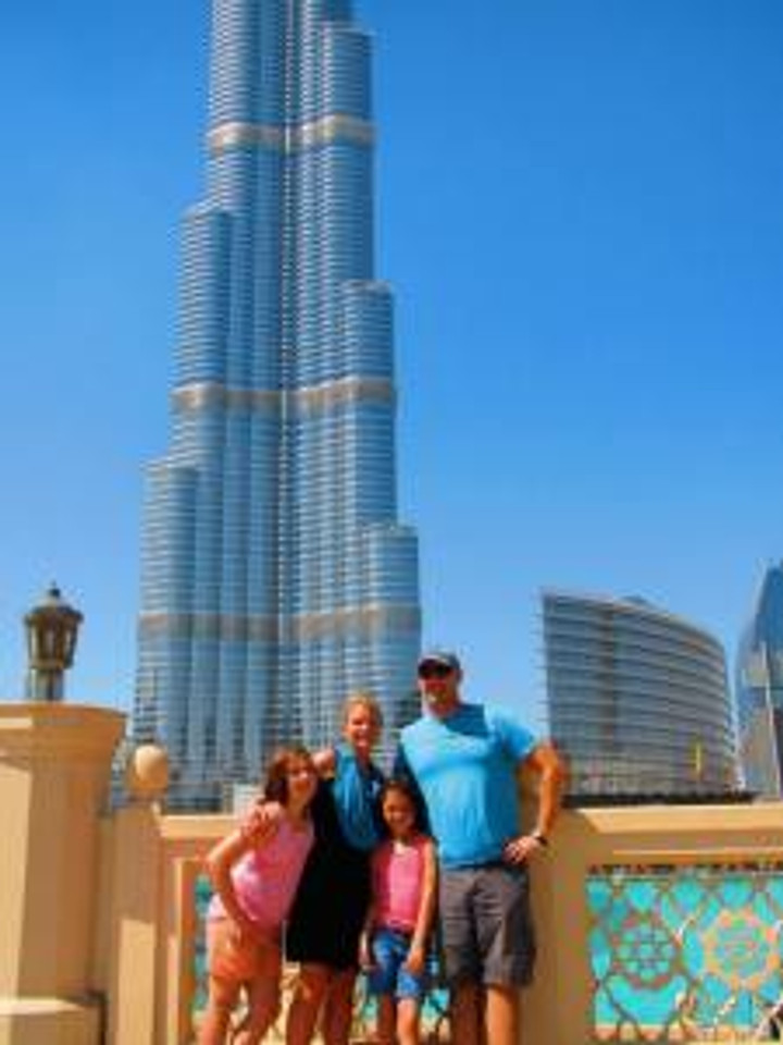 Family at Burj Khalifa_UAE A-Z