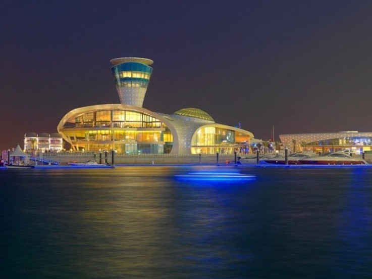 Yas Viceroy Hotel by night