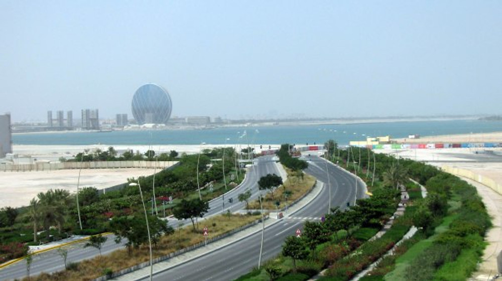 View from the Staybridge on Yas Island.