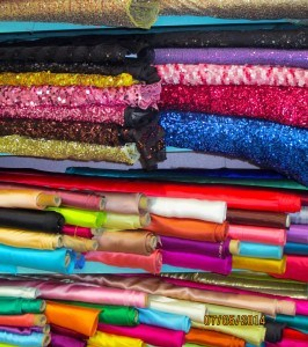 Fabric rolls at Cairo Textiles