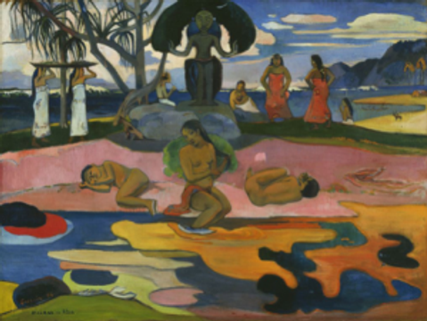 Day of the God Painting by Paul Gauguin,circa1894