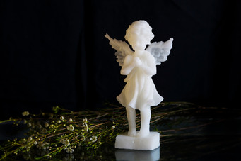 Religious angel candle gift idea