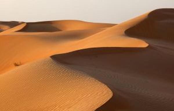 Rub' al Khali desert dunes One arabian night