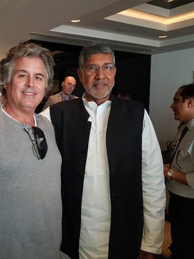 Hans Fraikin with Khailash Satyarthi