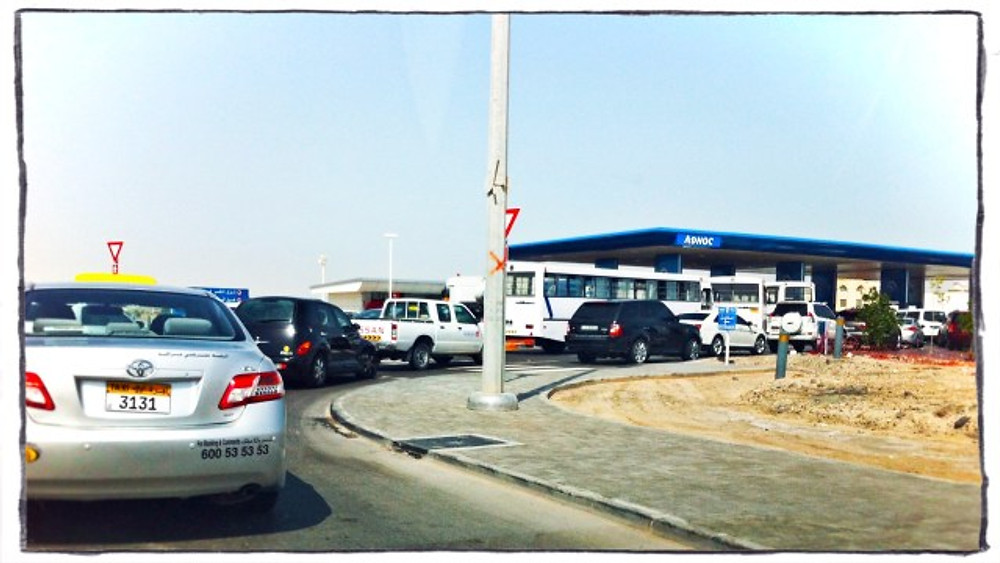 LONG Lines at my local ADNOC station.