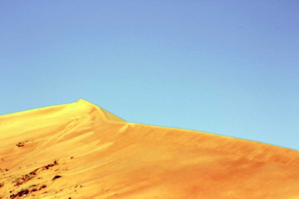 Red sand dunes in Al Ain.