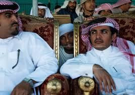Wealthy bedouins at the Camel Beauty Pageant