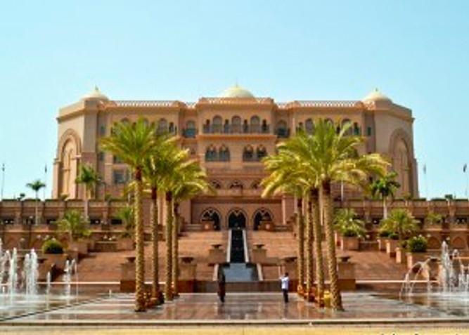 Emirates Palace front view, Abu Dhabi