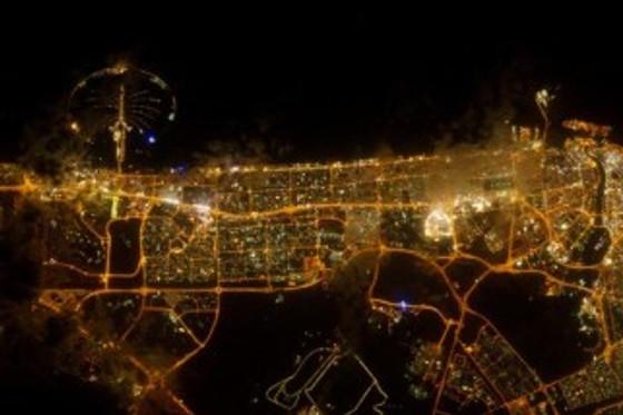 Dubai at night. Abu Dhabi looks pretty much the same.