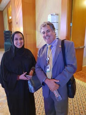 Hans Fraikin with Dr. Nawal Al-Hosany