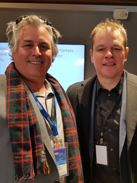 Hans Fraikin with Matt Damon