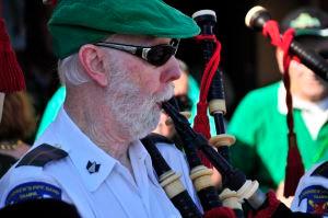 George enjoying playing St. Patrick's Day 2018