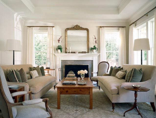 Living Room with lamps