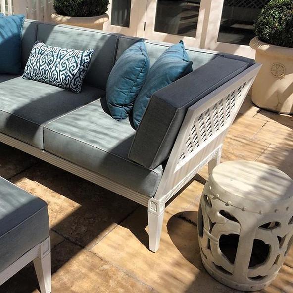 Blue exterior furniture