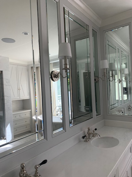 Master bath mirrors