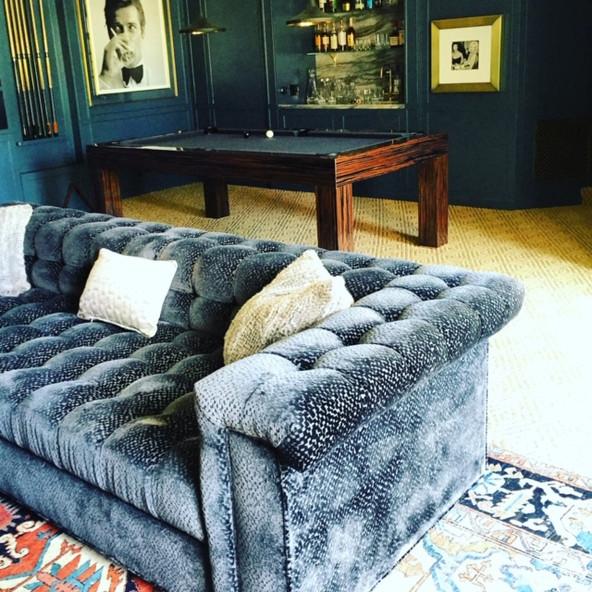 Billiards room sofa