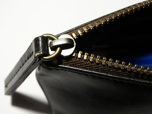 Black Leather Zipper