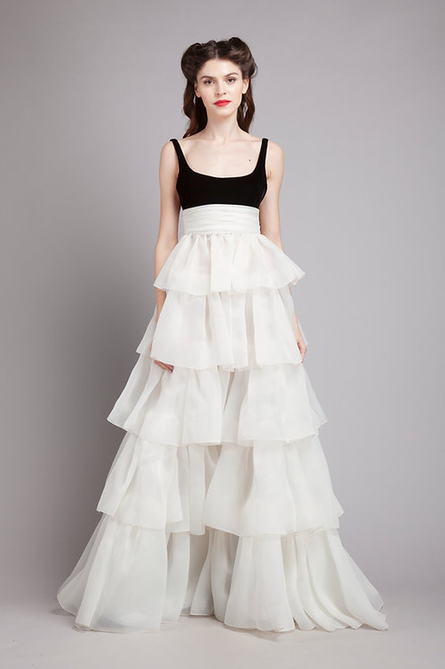 Tank top tiered gown