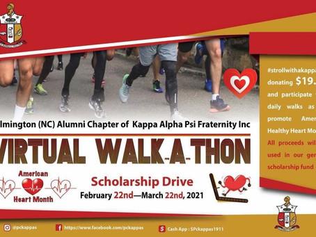 Wilmington (NC) Alumni Chapter Virtual Walk-A-Thon scholarship drive.