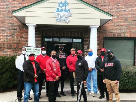Fayetteville/Fort Bragg Nupes giving back.