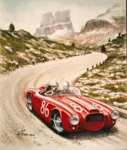 1954 Lancia in the Dolomites