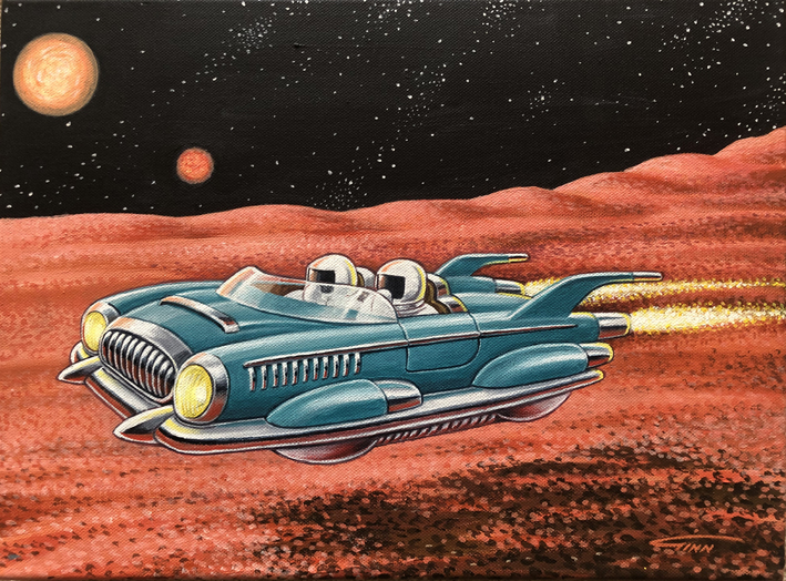 Retro Space Car
